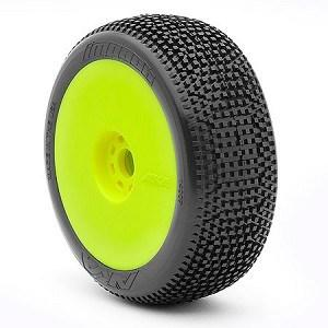 AKA 1/8 Buggy Impact (Super Soft - Long Wear) EVO Wheel Pre-Mount Yellow