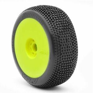 Image of AKA 1/8 Buggy IMPACT (Soft - Long Wear) EVO Wheel Pre-Mounted Yellow