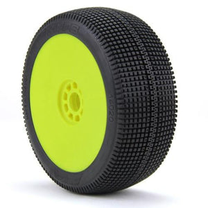 AKA 1/8 Buggy ZIPPS (Soft) EVO Wheel Pre-Mounted Yellow