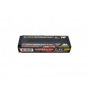 ARROWMAX Lipo 6200mAh 2S TC Low Profile - 7.4V 75C Continuo