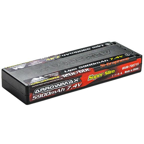 ARROWMAX AM Lipo 5900mAh 2S TC Ultra Low Profile - 7.4V 60C