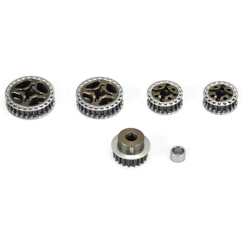 Image of ARROWMAX PULLEY SET FOR MUGEN MTX(7075 HARD)