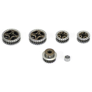 ARROWMAX PULLEY SET FOR MUGEN MTX(7075 HARD)
