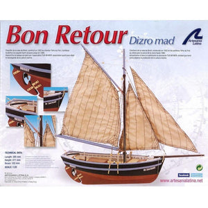 ARTESANIA 1/25 BON RETOUR FISHING BOAT WOODEN SHIP MODEL (A