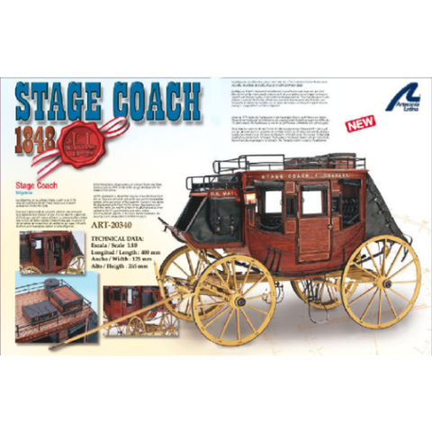 ARTESANIA STAGE COACH 1848 US MAIL ART-20340