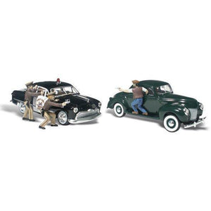 WOODLAND SCENICS HO Scale Getaway Gangsters