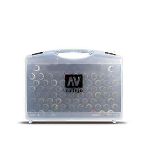Vallejo Game Air Plastic Case 51 colors, 8 primers, 5 auxil