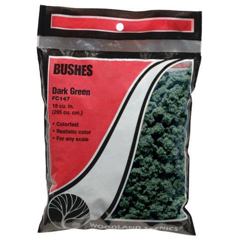 Image of WOODLAND SCENICS Dark Green Bushes (Bag)