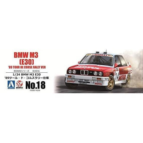Image of BEEMAX 1/24 BMW M3-E30 TOUR DE COSE 1989 (BEE24016)