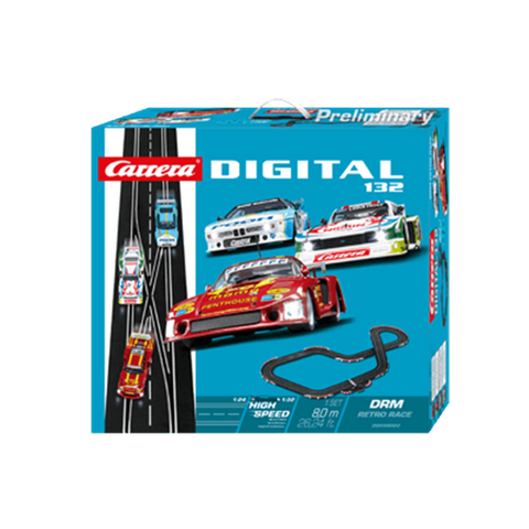 CARRERA Digital 132 DRM Retro Race Set w/3 Cars (CA-30002)