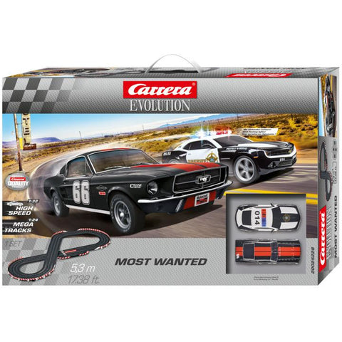 CARRERA Evo Most Wanted 67 Mustang & Camaro Sheriff