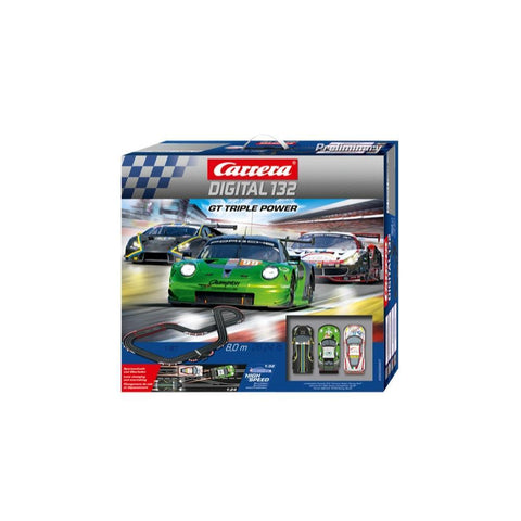 CARRERA Digital 132 GT Triple Power Slot Car Set