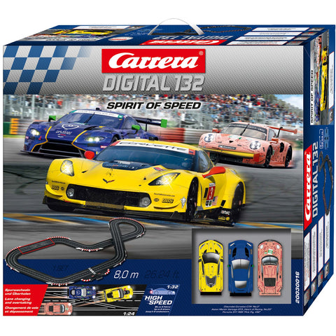 CARRERA Digital 132 Spirit of Speed (3 Car) Slot Car Set