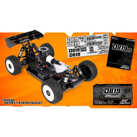 HB RACING D819 RS 1/8 Competition Buggy No body (HB204580)