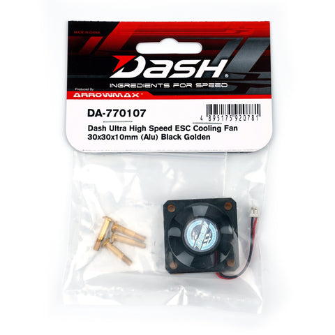 DASH Ultra High Speed ESC Cooling Fan 30x30x10mm (Alu) Blac