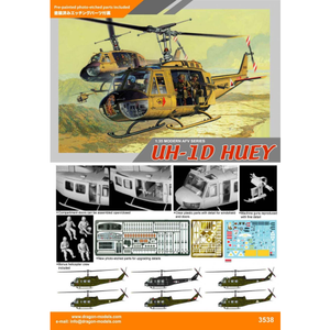 DRAGON 1/35 UH-1D Huey Plastic Model Kit