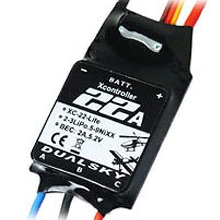 DUALSKY XC-22-LITE Brushless Speed Controller; 22A, 2-3S