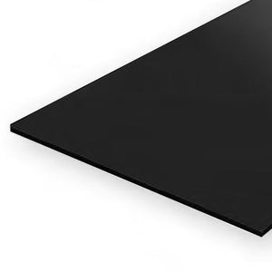 EVERGREEN 9115 20 X 53CM BLACK STYRENE SHEET .040