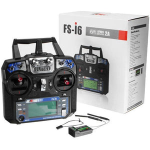 FlySky i6 FS-i6 Transmitter With FS A8S 8CH Mini Receiver (Mode 2)