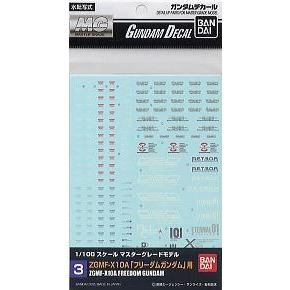 BANDAI MG Decal Set No.3