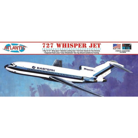 AMC 1/96 Boeing 727 Whisper Jet Airliner Eastern Plast