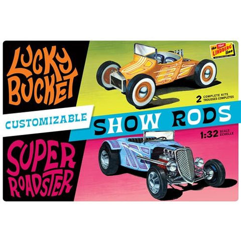 Image of LINDBERG 1/32 Customized Street Rods (2 Pack)
