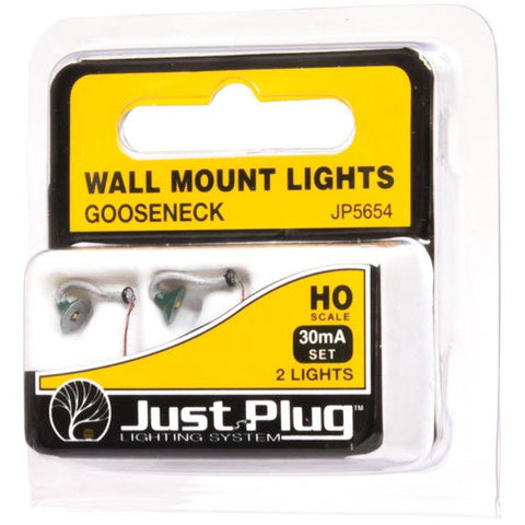 WOODLAND SCENICS HO Gooseneck Wall Mount Lights