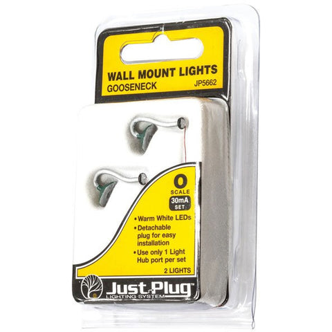 WOODLAND SCENICS O Gooseneck Wall Mount Lights