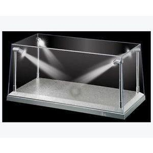 KING CREATION 1:24/1:43 White Base LED Lighted Display Case