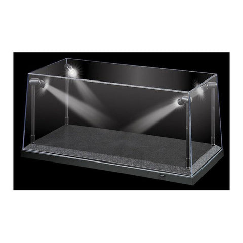 1:18 Black LED Display Case (L) 35.5cm x (W) 15.6cm x (H) 1
