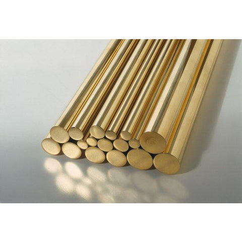 K&S ENGINEERING Solid Brass Rod 36in 1/4in (1 rod)