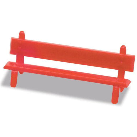 Image of PECO OO/HO Platform Seat Red