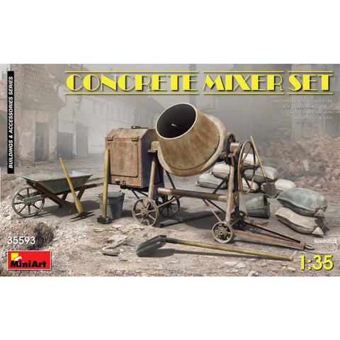 MINIART 1/35 Concrete Mixer Set