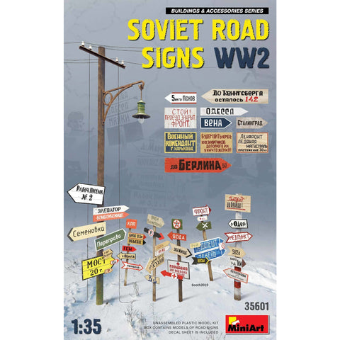 MINIART 1/35 Soviet Road Signs WW2