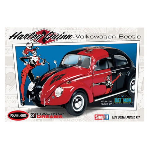 Image of POLAR LIGHTS 1/24 DC Comics Harley Quinn VW Beetle Kit