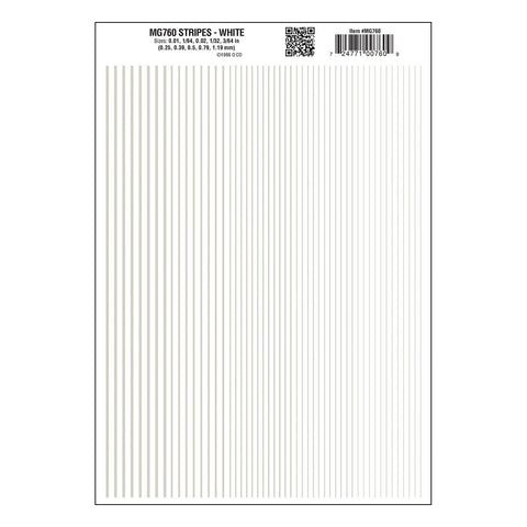 WOODLAND SCENICS Stripes White