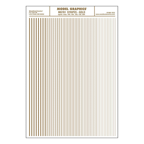 WOODLAND SCENICS Stripes Gold
