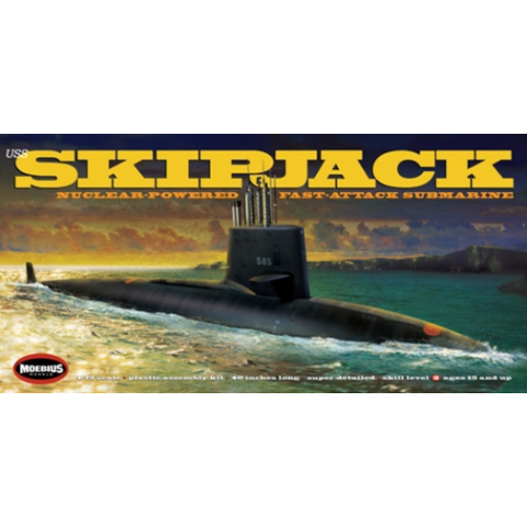 Image of MOEBIUS 1400 1/72 USS Skipjack Plastic Model Kit