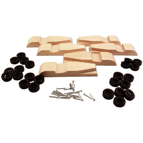 WOODLAND SCENICS 6-Pack Roadster Block with Wheels & Nail-type Axl