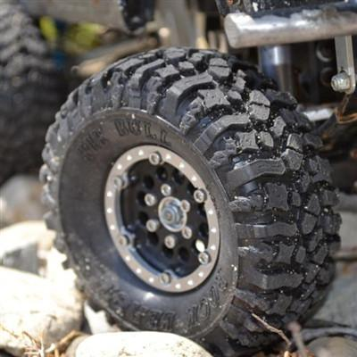 PIT BULL 1.9 Rock Beast Scale RC Tires w/2 Stage Foam 2pcs