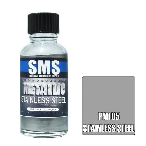 SMS Premium Metallic STAINLESS STEEL 30ml (PMT05)