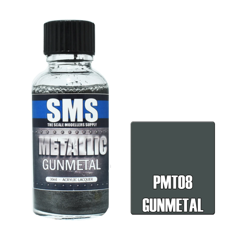 SMS Premium Metallic GUNMETAL 30ml (PMT08)