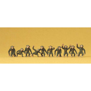 PREISER Monkeys Brn 10/ (590-20388)