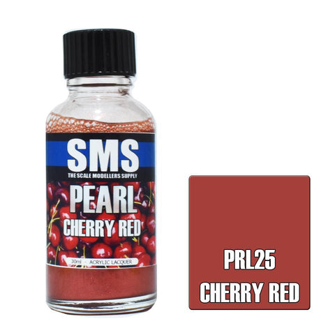 SMS Pearl Acrylic Lacquer CHERRY RED 30ml (PRL25)