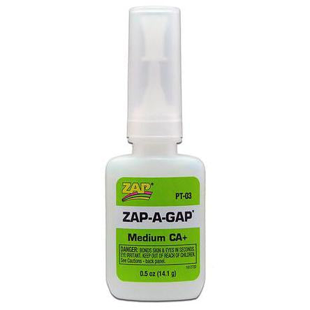 ZAP 0.5oz Green Zap-A-Gap Medium CA+