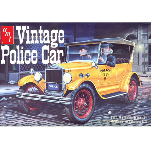 AMT 1/25 1927 Ford T Vintage Police Car Plastic Kit