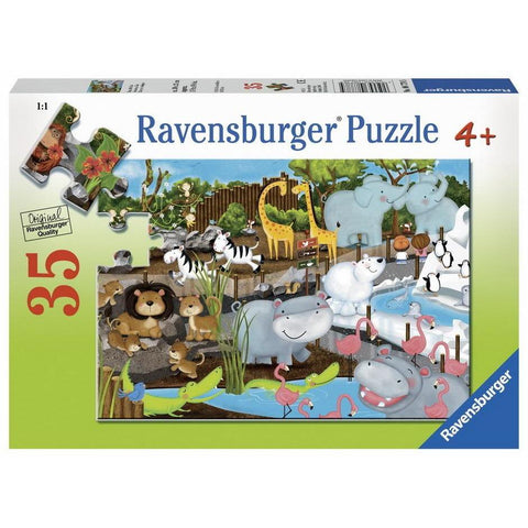 Rburg - Day at the Zoo Puzzle 35pc