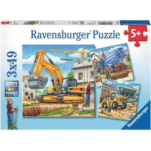 RAVENSBURGER Construction Vehicle Puzzle 3x49pce