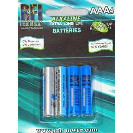 Image of RFI AAA SIZE SUPER ALKALINE BATTERIES (4 PER CARD)