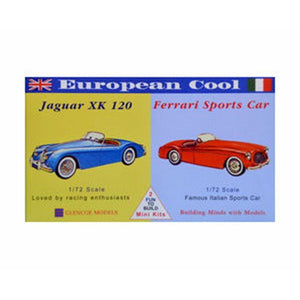 GLENCOE 1:72 European Cool - Jaguar/Ferrari Plastic Kit(R